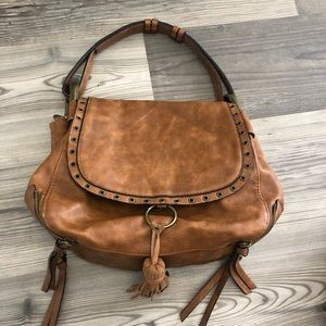 Steve Madden Faux Leather Boho Shoulder Brown Bag